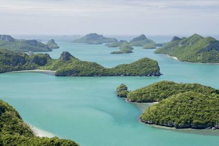 ko: Ang Thong National Marine Park islands. Sleeping Cow Island, Three Pillars Island, Ko Wua, Talap Buaboke Cave, Ko Paluay. Thailand