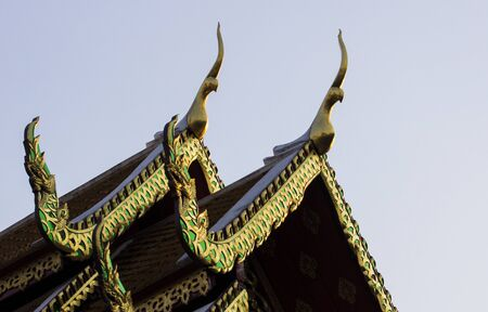 gabled: Gabled roof temple in thailand