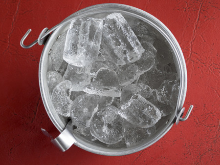 special steel: ice bucket on the table