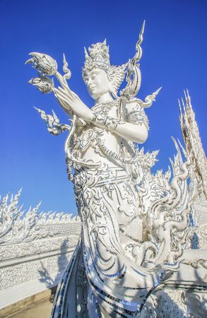 faerie: The white faerie at Wat rongkhun in Thailand