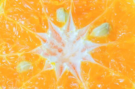 tangerine: closeup slice of tangerine