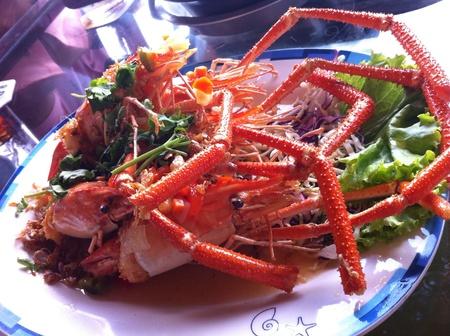 sea food: Thai shrimps on thai sea food