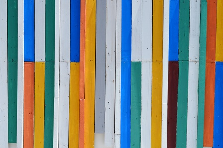 colorful wood wall. photo
