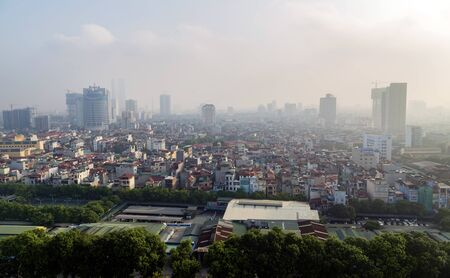 overbridge: Hanoi view from the sky, Hanoi is the capital city of Vietnam, located in north Vietnam
