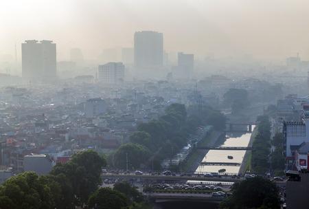 overbridge: Hanoi view from the sky, Hanoi is the capital city of Vietnam, located in north Vietnam
