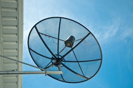 picture of the satellite dish photo