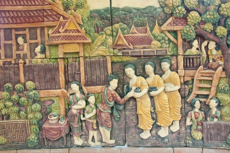 Native Thai style molding art
