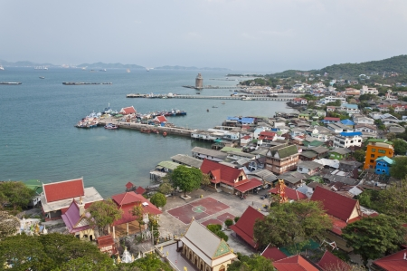 Port at Sri Chang Island of Thailand photo