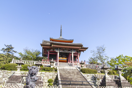 Beautiful Pagoda of Kiyomizu Temple in Japan.