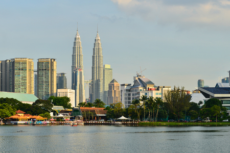 titiwangsa: View of Twin Tower at Titiwangsa Lake Garden. Located in the north-eastern fringe of Kuala Lumpur.