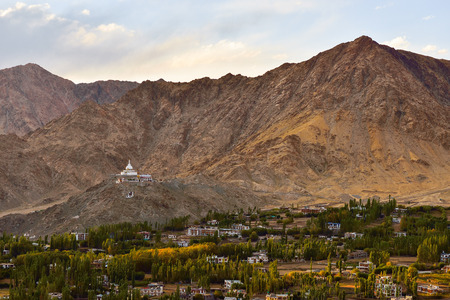 leh: This photo was shot from Tsemo castle in Leh, India