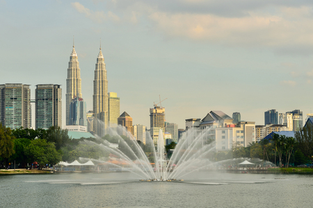 titiwangsa: Kuala Lumpur, Malaysia skyline at Titiwangsa Park.