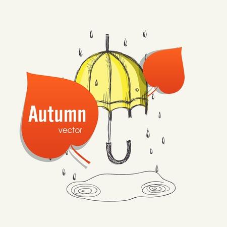 the season: Autumn Season Concept Illustration