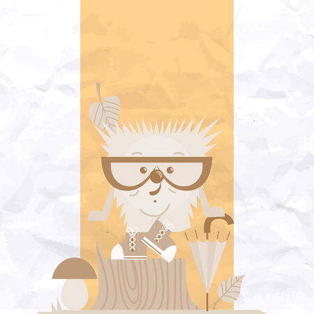 cartoon hedgehog: Cartoon  Hedgehog, Hipster Style