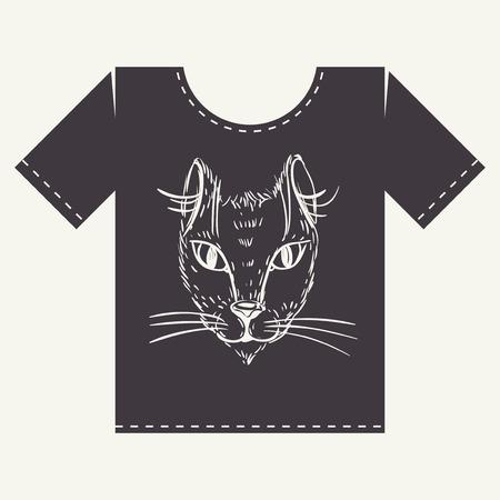 t shirt print: Dise�o T Shirt Print Vectores