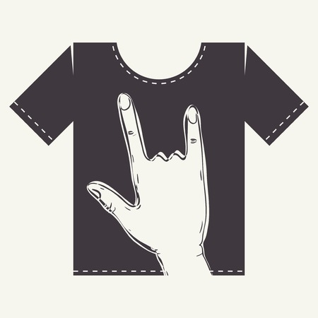 t shirt print: T Shirt Print Design, Eps 10 Vector Illustration Illustration