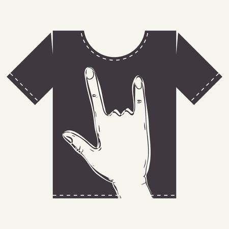 t shirt print: T Shirt Print Dise�o, Eps 10 ilustraci�n vectorial