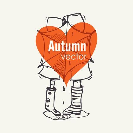 Autumn Season Concept Illustration