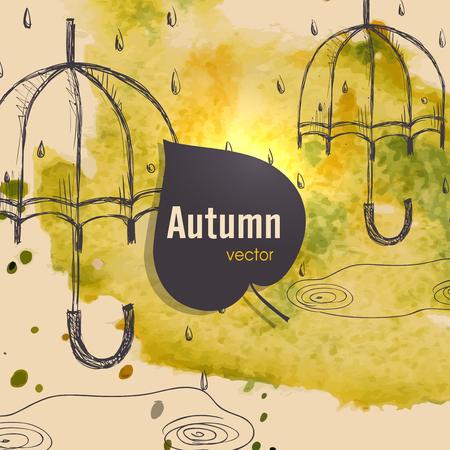Autumn Season Concept Illusztráció