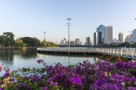 Downtown cityscape in Bangkok Thailand photo