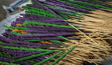 Incense: Heap of Incense Thai herb, Colorful Incense aroma