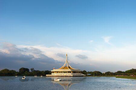 ix: Public Park in Bangkok Thailand in Evening time is call Suan Luang Rama IX