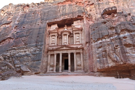 Facade of the Treasury in Petra, Jordan