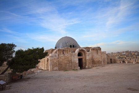 atop: Umayyad Mosque in Amman, Ruins atop the Citadel