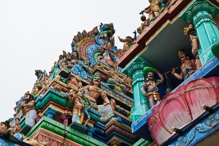 mariamman: Close up of SRI ARULOLI THIRUMURUGAN Temple with blue sky , Penang Hill Malaysia Editorial