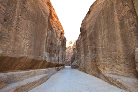 As-Siq Petra, Lost rock city of Jordan.  UNESCO world heritage site and one of The New 7 Wonders of the World.  Editorial