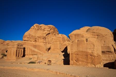 Djinn Blocks Petra, Lost rock city of Jordan. photo