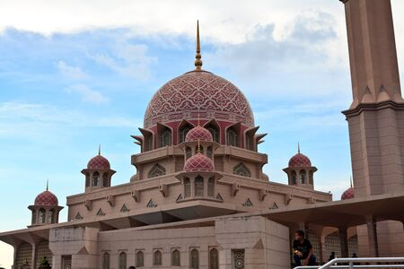 Putra Mosque in the center of Putrajaya, new administrative capital of Malaysia  photo