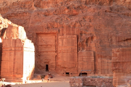 The Outer Siq, in Petra, Jordan photo