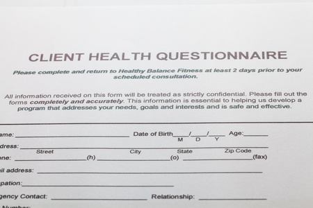 A health insurance application medical information photo