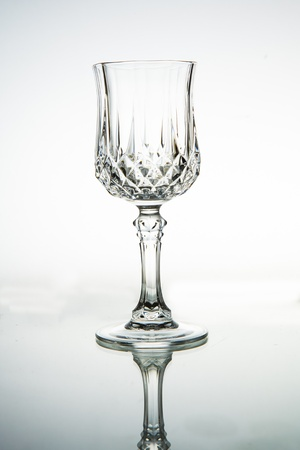Empty wine glass. isolated on a white background photo