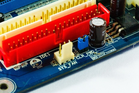 chipset: Motherboard with chipset. Stock Photo