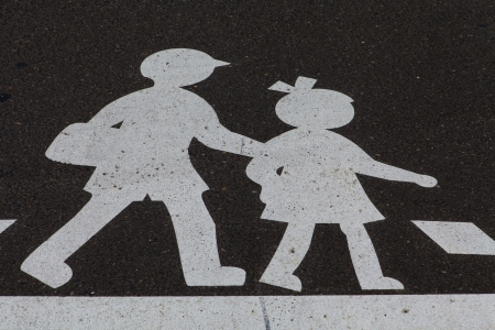 Children crossing sign photo
