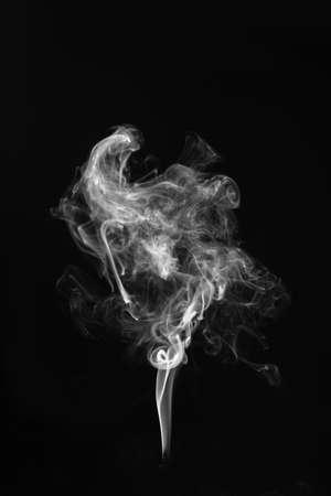 Smoke on a black background. Stock Photo