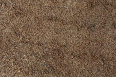cow hide: Brown nubuck in vintage style