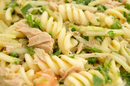 Pasta and tuna salad photo