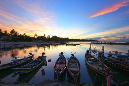 traditional Thai fishing boat photo
