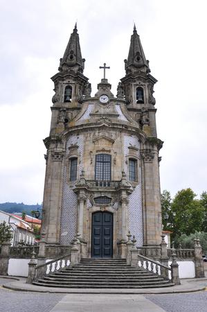 Igreja de Nossa Senhora da Consolacao e Santos Passos, Guimaraes, Portugal Stock Photo