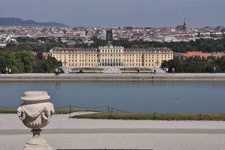 schloss schoenbrunn: Schönbrunn Palace, Vienna, Austria Stock Photo