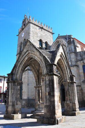 Igreja de Nossa Senhora da Oliveira in historic centre of Guimaraes ,Portugal