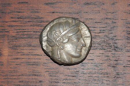 Silver tetradrachm (four-drachma coin) from Athens