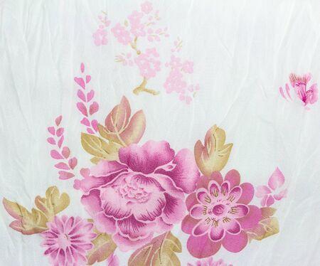 Flower Texture of Thai silk pattern, Thailand textile