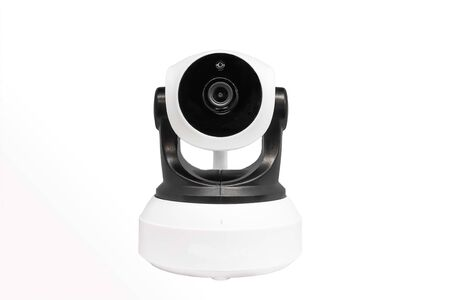 Security camera  isolated on white background. . IP Camera.