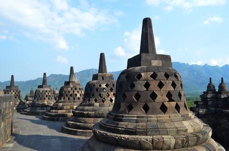 borobudur: The small pagoda at Borobudur Indonesia.