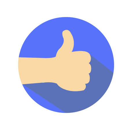 Vector hand thumbs up Иллюстрация