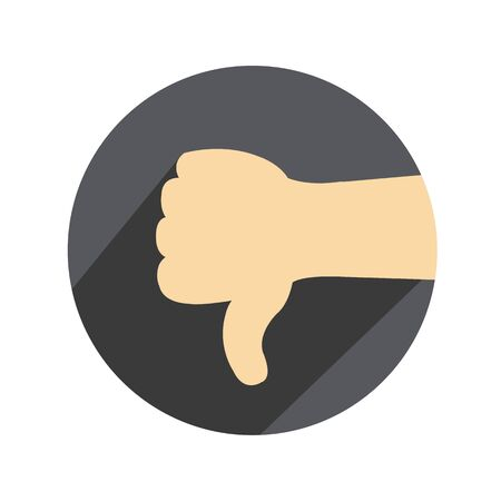 Vector thumbs down Иллюстрация
